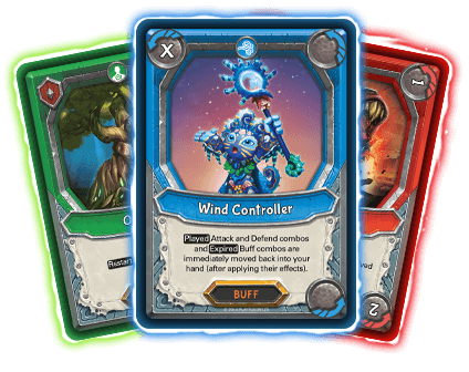 Attack, buff & defend Cards